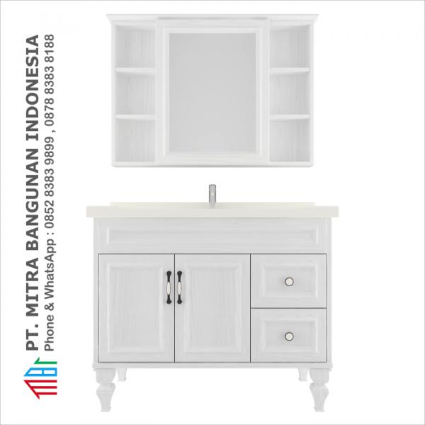 Shunda Cabinet PVC - Floor Standing - White Woodgrain - K100C-0302