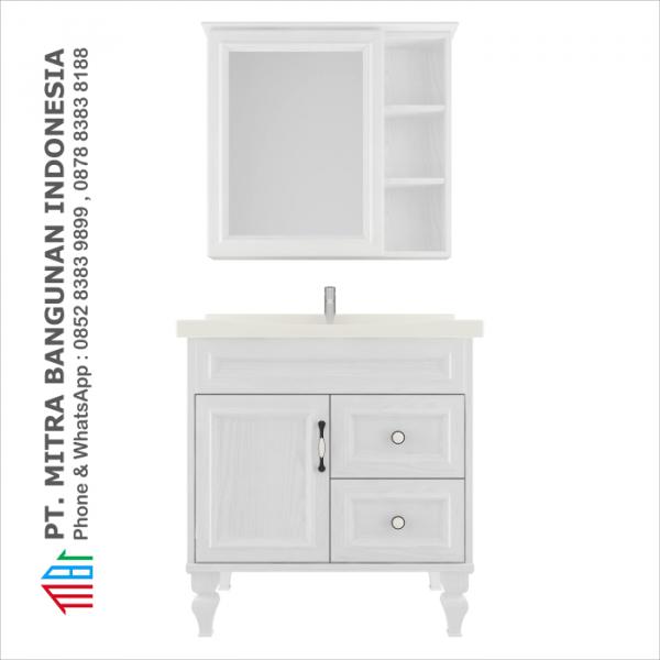 Shunda Cabinet PVC - Floor Standing - White Woodgrain - K80B-0302