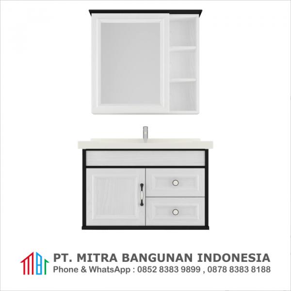 Shunda Cabinet PVC - Wall Mounted - Black and White - G80B-0501