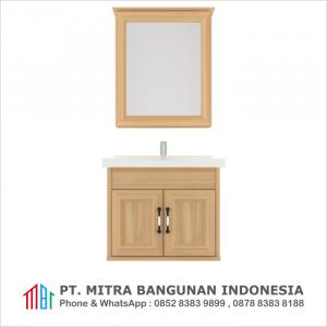 Shunda Cabinet PVC - Wall Mounted - Natural Maple - G60A-0101