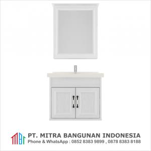 Shunda Cabinet PVC - Wall Mounted - White Woodgrain - G60A-0301