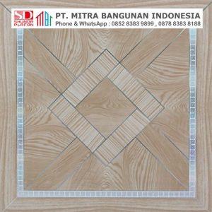 Shunda Plafon PVC - Ceramic Style - Brown Square Ceramic - PL 2511