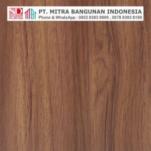 Shunda Plafon PVC - Natural Wood - Brown Mahogany - MK 20053