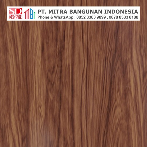 Shunda Plafon PVC - Natural Wood - Modern Teak Wood - PL 2522