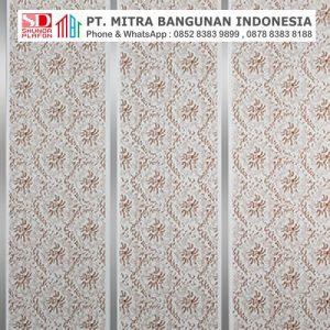 Shunda Plafon PVC - Vintage in Batik - Brown Batik With Double Silver Drain - PL 2508