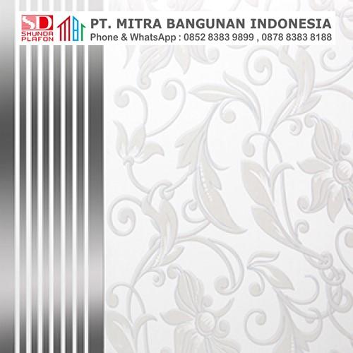 Shunda Plafon PVC - Vintage in Batik - Silver Gold Flowers - PL 2516