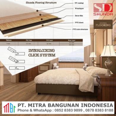 Jual Lantai Kayu PVC Shunda Flooring