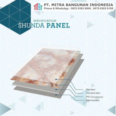 Marmer PVC Shunda Panel - Specification