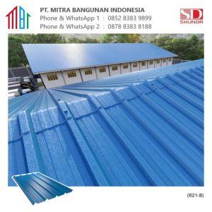 Shunda Plafon Atap UPVC - Blue ASA Roofing Sheet - R21-B 1