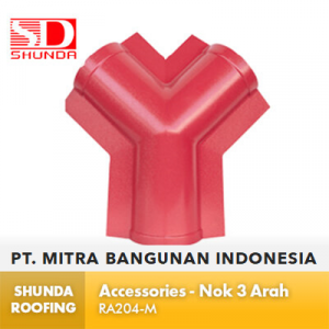 Shunda Roofing Atap UPVC - Accessories - Nok 3 Arah - RA204-M
