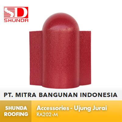 Shunda Roofing Atap UPVC - Accessories - Ujung Jurai - RA202-M