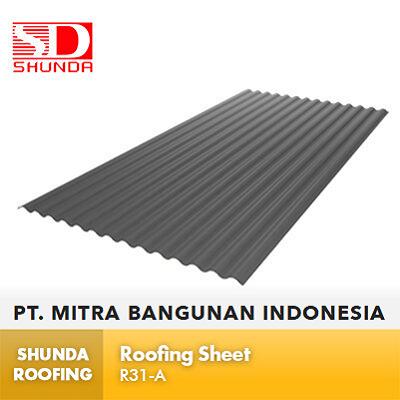 Shunda Roofing Atap UPVC - Gray Roofing Sheet - RA31-A