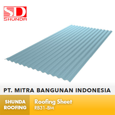 Shunda Roofing Atap UPVC - Light Blue Roofing Sheet - RB31-BM